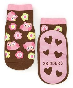 These traction-enhanced socks ensure steady steps that look sweet with trusty, no-slip heart grips and an adorable owl print. Little Girl Fashion, Toddler Fashion, Pink Owl, Owl Print, Slipper Socks, Baby Socks, Baby Wearing, Little Girls, Baby Kids