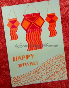 Diwali Greeting card Diwali Greeting Cards, Diwali Greetings, Greeting Cards Handmade, Diwali Festival, Diy Cards, Indian, Touch, Drawings, Happy