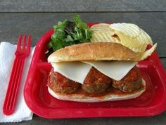 Smashed Meatball Sandwich http://recipes.slides.kaboose.com/305-20-quick-easy-lunch-recipes/13