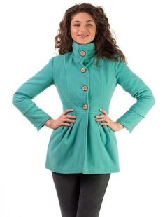 "Palton ""Waistline"" Light Blue Light Blue, Tunic Tops, Women, Fashion, Moda, Fashion Styles, Fashion Illustrations, Pastel Blue, Light Blue Color"