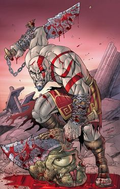 Character Drawing, Game Character, Character Design, Ninja Armor, God Of War Game, Kratos God Of War, Best Gaming Wallpapers, Samurai Artwork, Comic Art Community