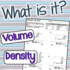 """Find Volume and Density to determine """"What is it?"""" $"""
