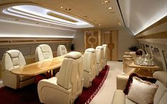 There's nothing like the interior of a private jet. You know, where everything within the plane is more luxurious than your house will ever be. Some private jet interiors are marbled out masterpieces, and others are gold accented works of art that… Jets Privés De Luxe, Luxury Jets, Luxury Private Jets, Private Plane, Private Jet Interior, Luxury Interior, Interior Design, Dassault Falcon 7x, Brighton Photography