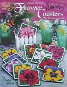 free plastic canvas coaster patterns | The book is in GOOD condition. There is a name written on the front ...