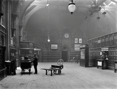 The Booking Office, St. Pancras 1920.  Now an amazing bar.