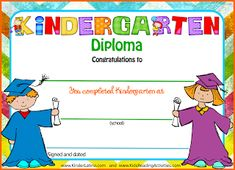 FREE diplomas and poems for your end of the year celebration