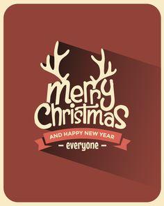 Minimal Christmas Backgrounds by Vintage Vectors Studio, via Behance