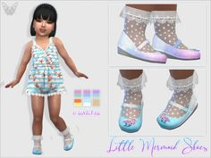 The Sims 4 Little Mermaid Shoes For Toddlers The Sims 4 Kids, Toddler Cc Sims 4, The Sims 4 Bebes, Sims 4 Toddler Clothes, Sims 4 Cc Kids Clothing, Sims 4 Children, Sims 4 Teen, Sims 4 Mods Clothes, Sims Mods
