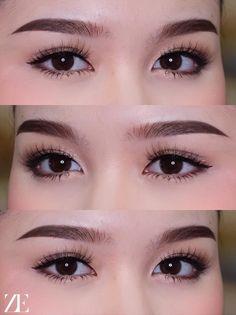 Makeup Inspo, Beauty Makeup, Hair Makeup, Straight Eyebrows, Hooded Eye Makeup, Brow Shaping, Bride Makeup, Tips Belleza, Eye Make Up