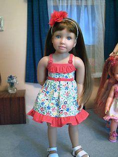 """dolls clothes, Dress (#1)  for Magic Attic doll, Kidz N Cats, slim dolls 18"""""""