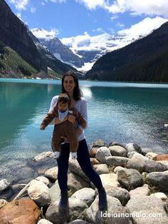 Lake Louise, um dos lagos mais bonitos das montanhas rochosas canadenses.