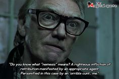 "#Snatch. - Do you know what ""nemesis"" means? A righteous... #moviequotes"