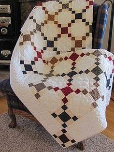 LaDeeDa Quilts: Handquilted Nine Patch 9 Patch Quilt, Quilt Blocks, Quilt Baby, Antique Quilts, Vintage Quilts, Vintage Fabrics, Scrappy Quilts, Easy Quilts, Irish Chain Quilt