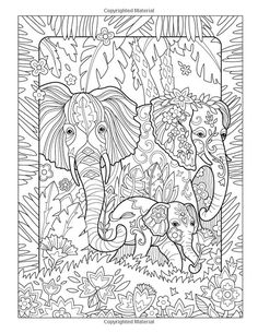 Amazon.com: The Art of Marjorie Sarnat: Elegant Elephants Adult Coloring book…:
