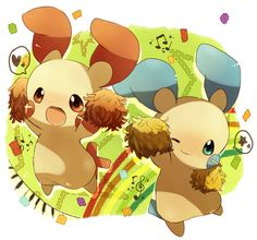 Minun and Plusle. (: