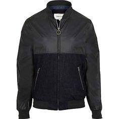 Blue contrast panel bomber jacket £30.00