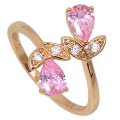 Find More Rings Information about New 2016 Ravishing  Morganite Women's rings Pink Cubic Zirconia Fashion jewelry 18K Yellow Gold Plated Ring size 6 7 7.5 8 R393,High Quality jewelry dislay,China jewelry armoire Suppliers, Cheap jewelry celtic from Dana Jewelry Co., Ltd. on Aliexpress.com