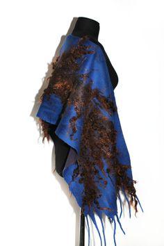 Customer order Nuno felted scarf with baby alpaca fleece