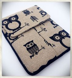 iPad Tablet Case With Front Expandable Pocket  OWL Print Fits all generations of the iPad. $37.00, via Etsy.