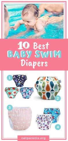 Tired of leaky diapers in the pool? Ever wondered what are the Best SWIM DIAPERS. - Baby Beach Essentials & Tips - Baby Swimming Gear, Swimming Equipment, Baby Beach Gear, Baby Gear, Reusable Diapers, Cloth Diapers, Baby Sun Protection, Baby Swim Diapers, Toddler Swimming