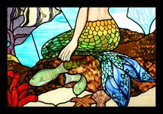 Image detail for -Custom Art Glass Window - Mermaid | productFind | InteriorDesign.net