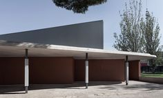 Intervention in Santa Teresa de Jesús School / Peñín Architects, © Diego Opazo Amazing Architecture, Pavilion, Canopy, This Is Us, Minimalist, Outdoor Decor, Spain Images, Museums, Gallery
