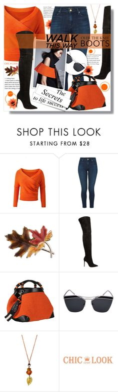 """""""Fall Footwear: Over-The-Knee Boots"""" by jenny007-281 ❤ liked on Polyvore featuring J Brand, Anne Klein, Gianvito Rossi, Caroline De Marchi and Boots"""