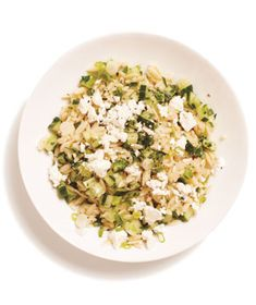 Orzo Cucumber Salad. Someone made this at our big family Thanksgiving and it was my favorite thing.