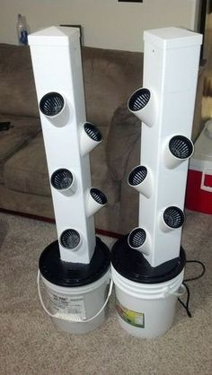 Small Dual Rain Tower Hydroponic System
