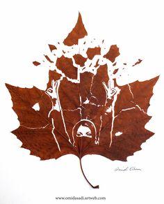 Happy International Women's, Day Leaf cut by:Omid Asadi