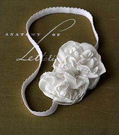 White Flower Blossom Headband Hair by RosalindGraceDesigns on Etsy, $20.00