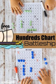 Printable Math Games, Free Math Games, Fun Math Activities, Free Printable, Grade 2 Patterning Activities, Hundreds Chart Printable, 2nd Grade Math Games, Kindergarten Games, Preschool