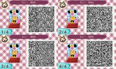 Animal Crossing New Leaf Qr Code Minnie Mouse Face board