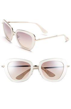 Isaac Mizrahi New York 53mm Geometric Sunglasses | Nordstrom -- in white, $48.00