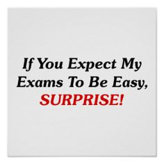 ==>Discount          If You Expect My Exams To Be Easy, SURPRISE! Print           If You Expect My Exams To Be Easy, SURPRISE! Print so please read the important details before your purchasing anyway here is the best buyShopping          If You Expect My Exams To Be Easy, SURPRISE! Print lo...Cleck Hot Deals >>> http://www.zazzle.com/if_you_expect_my_exams_to_be_easy_surprise_print-228903447970226997?rf=238627982471231924&zbar=1&tc=terrest