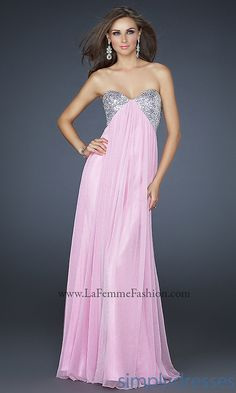 Shop La Femme evening gowns and prom dresses at Simply Dresses. Designer prom gowns, celebrity dresses, graduation and homecoming party dresses. Pink Prom Dresses, Prom Dresses Online, Pretty Dresses, Homecoming Dresses, Strapless Dress Formal, Beautiful Dresses, Evening Dresses, Formal Dresses, Dress Prom