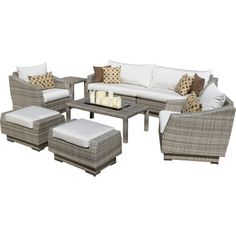 Complete your outdoor vignette with this essential seating group, perfect for entertaining beside the pool or under the stars.Product...