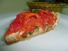 ZAKUSKAS - Torta de queijo branco e tomates