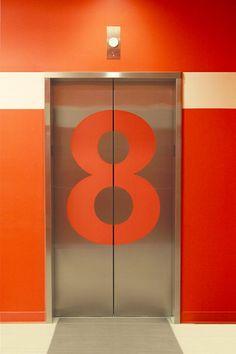 \\\ 8th floor Microsoft Silicon Valley floor identification #wayfinding \\\