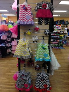 These chevron print dresses with matching bloomers are PERFECT for the spring!
