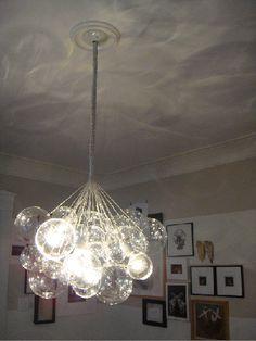 Glass ball light fixture