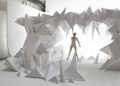 #installation #art #white #geometric @code + form