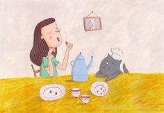 Tasting Original Illustration by behappynow on Etsy