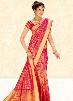 Golden Tissue Brocade Handloom Saree | Saree | www.cbazaar.com