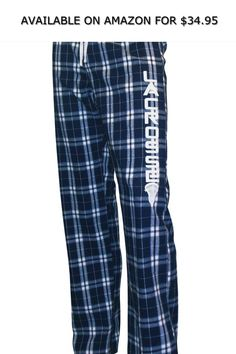 30e01a5822d Zone Apparel Lacrosse Women s Flannel Plaid Pajama Lounge Pants ◇ AVAILABLE  ON AMAZON FOR   34.95