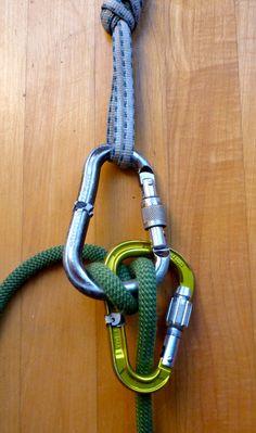 Locked auto-locking Munter
