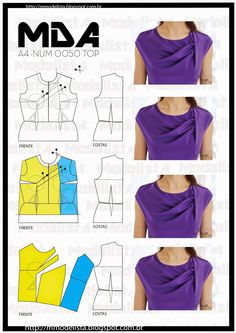 53 Ideas Sewing Patterns Free Tops Blouses For 2020 Dress Sewing Patterns, Blouse Patterns, Sewing Patterns Free, Free Sewing, Sewing Tutorials, Clothing Patterns, Techniques Couture, Sewing Techniques, Diy Clothing