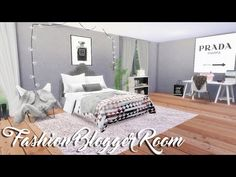 The Sims 4: Fashion Blogger Room — Room Build - YouTube