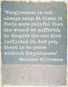 Forgiveness is the only way