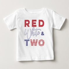 Shop Red White and TWO Birthday T-shirt created by DulceGrace. Personalize it with photos & text or purchase as is! 2 Year Old Birthday Party, 2nd Birthday Boys, Blue Birthday Parties, 2nd Birthday Party Themes, First Birthday Shirts, Birthday Ideas, 2nd Birthday Pictures, Boy Party Favors, Boys Shirts